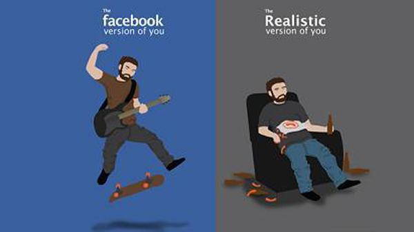 Κρύβοντας την σκληρή αλήθεια της ζωής σου στο Facebook