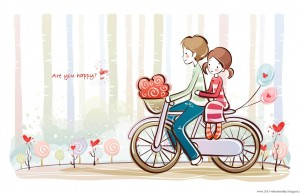 cute valentines day Cartoon Couple love (3)