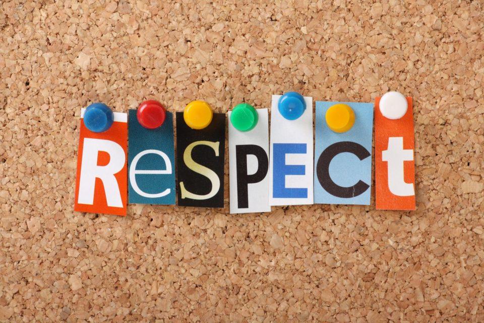 Ο σεβασμός ξεκινάει πρώτα από τον εαυτό μας.